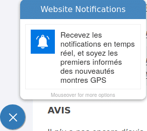 push notification montre cardio gps